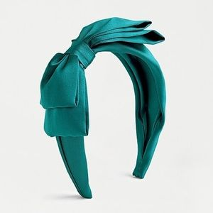 J CREW Green Bow Headband NEW